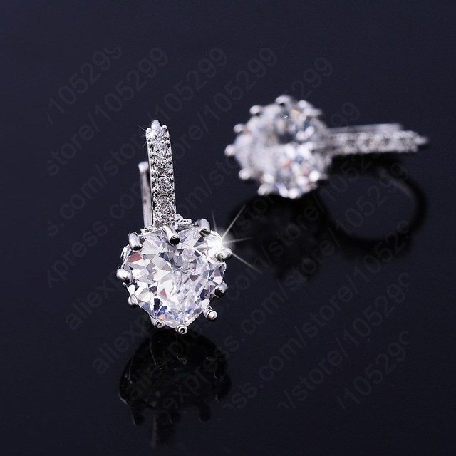 7b9002f39 JEXXI Luxury Colorful Heart Band Real Pure 925 Sterling Silver Jewelry  Cubic Zirconia Stone Earrings Fashion Women Favourites