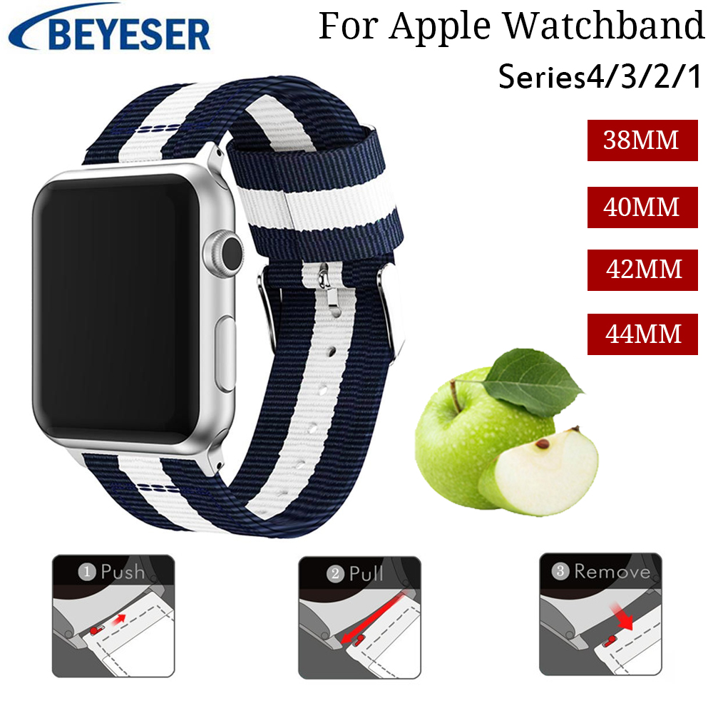 For Apple Watch Band 38/42mm nylon replacement watchStrap Bracelet band for iwatch bands series 4 3 2 1 Band 42/44mm watchband For Apple Watch Band 38/42mm nylon replacement watchStrap Bracelet band for iwatch bands series 4 3 2 1 Band 42/44mm watchband
