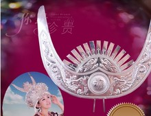 Horn Accessory Miao clothes silver clothing hair accessory hat collar miao silver costume hat horn hair accessory crownpiece