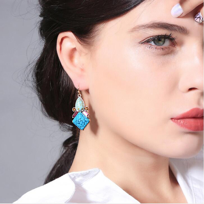 Cynthia Rowley Jewelry Organizer: Jewelry Retro Color Geometric Flower Earrings Earrings For