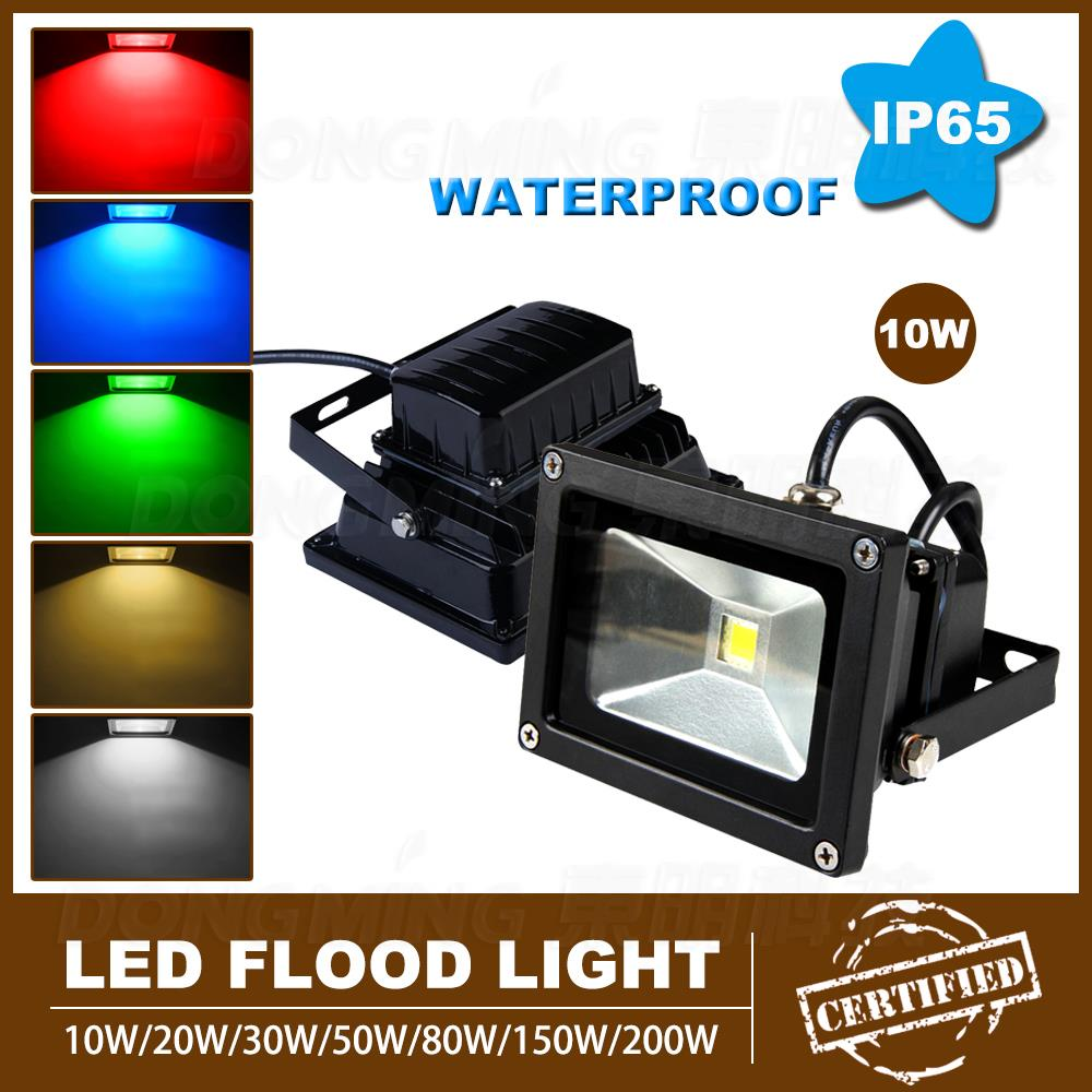 Superieur Promotion Outdoor Led Floodlight 10W 85 265V Black IP65 Waterproof Led  Flood Light For Garden Led Spotlight Outdoor In Floodlights From Lights U0026  Lighting On ...