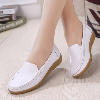 AARDIMI Genuine Leather Summer Women Flats Shoes Casual Flat Shoes Women Loafers Shoes Soft Leather Slip On Solid Women's Shoes genuine leather wedges slip on shoes women flats loafers wedge casual height increasing flat walking shoes plus size 34 40