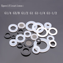 10 PCS Fit G1/2 G3/8 G1-1/2 Sanitary O-ring Silicone Gasket Seal Ring Bellows Gas Pipe Flat Washer PTFE flange gasket PTFE 1 piece 1 5 ptfe gasket fits 50 5 mm od sanitary tri clamp type ferrule flange spg 1 5 38