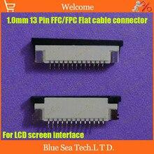 Бесплатная Доставка 20 шт. FPC/FFC разъем КАБЕЛЬНАЯ розетка 13 контактный 1.0 мм разъем для интерфейса ЖК экрана DVD/MP3/PDA/Phone ect. ROHS