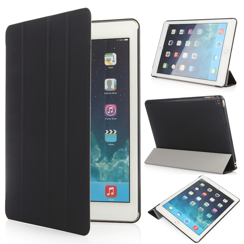 Stand Case for iPad Air 2, iHarbort Magnetic PU Leather Case smart Cover with Multi-Angles holder Stand Auto Sleep/ Wake Up ctrinews flip case for ipad air 2 smart stand pu leather case for ipad air 2 tablet protective case wake up sleep cover coque