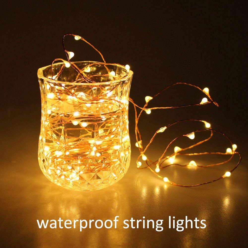 1 เมตร 10 ไฟ LED ขวดจุกรูปร่างหัตถกรรมแก้วขวดไวน์ Garland สายไฟทองแดง Corker String โรแมนติกใหม่ปี /ตกแต่งคริสต์มาส