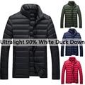 New Arrival Winter Jacket Men Warm Parka Coats Casual Ultralight White Duck Down Jacket Men Outerwear Stand Collar M~4XL DJ013