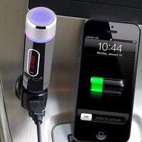 10 Шт./лот Пульт дистанционного управления USB Зарядное Устройство Автомобильный Комплект Громкой Связи Bluetooth Fm-передатчик Радио Адаптер Mp3-пл...