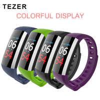 Tezer Bluetooth colourful touch screen smartband Blood Pressure Smart Wristband USB Charging Sport Bracelet Fitness Tracker G19