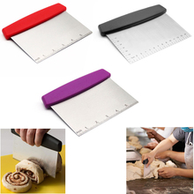 1Pcs Stainless Steel Metal Griddle Scraper Chopper - Great as Dough Cutter for Bread and Pizza