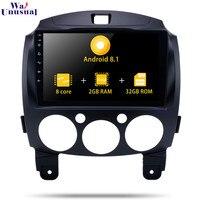 Android 8,1 9 дюймов Авторадио плеер для Mazda 2 2007 2012 Стерео gps навигация с Bluetooth Wifi без DVD 2 Din