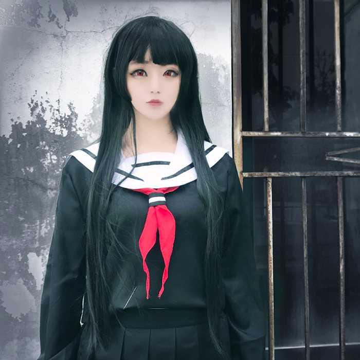 Details about  /New Hell Girl//Jigoku Shoujo Ai Enma School Sailor Uniform Cosplay Costume Dress