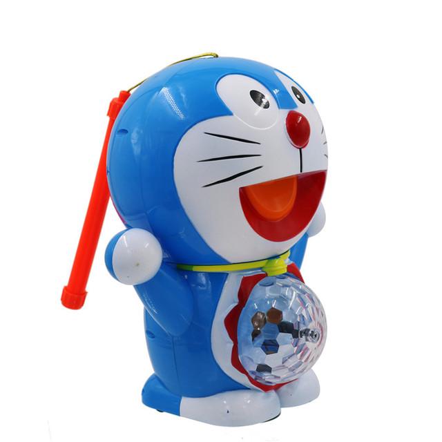 De juguete de regalo de los niños populares gatos del cascabeleo de la linterna portable de la música eléctrica de dibujos animados de Mediados de Otoño festival de la linterna de luz