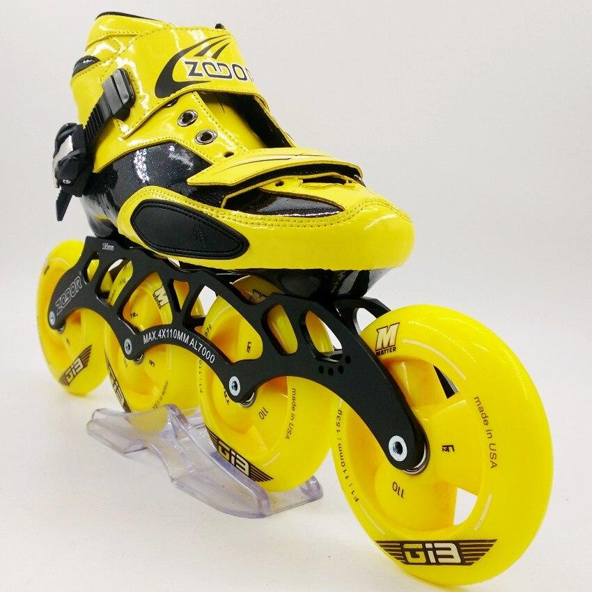 ZODOR chaussures de patinage de vitesse professionnelles pour adultes hommes et femmes patins de vitesse pour enfants patins à roulettes roues de patin à roulettes G13
