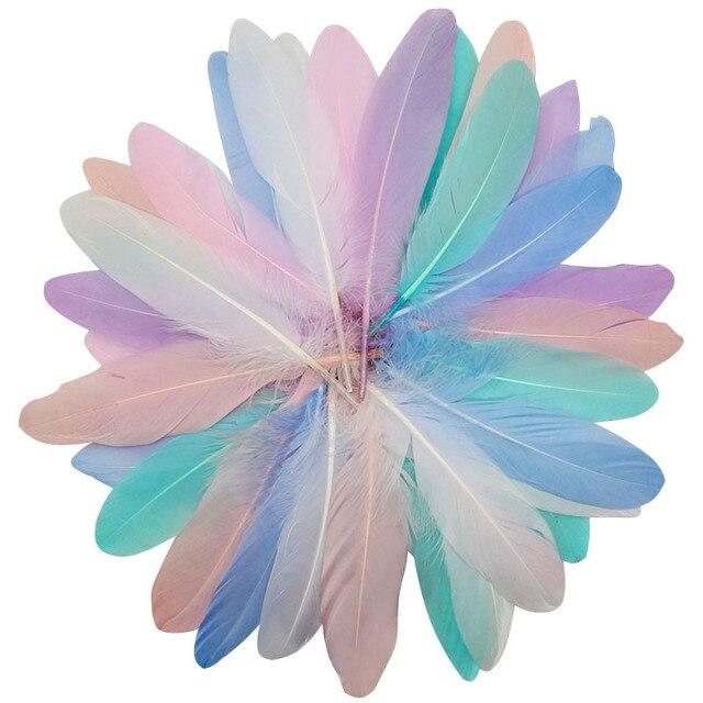 Plumes doie noires naturelles 5 à 7 pouces 13 à 18cm | En forme de Plume soi-même, pour artisanat, décoration de mariage, pour la maison