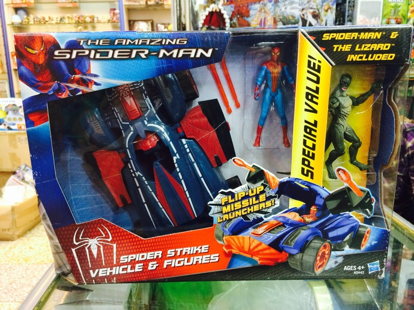 The Amazing Spider-man Lizard Spider Strike Vehicle Figures Spiderman PVC Action Figure Collectible Model Toy папка потфель spider man
