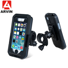 ARVIN Waterproof Motorcycle Bicycle Handlebar Phone Holder For Sansung S8 9 Cycling Bike Mobile Case Bag Support GPS Mount