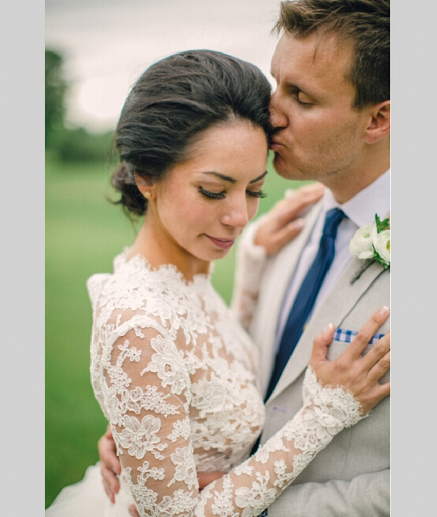 f931bd13c7bf Lace 2019 White Long Sleeve Wedding Dress Ball Gown 2 Two Piece Short Front  Long Back Zipper High Neck Wedding Gowns Lace-in Wedding Dresses from  Weddings ...