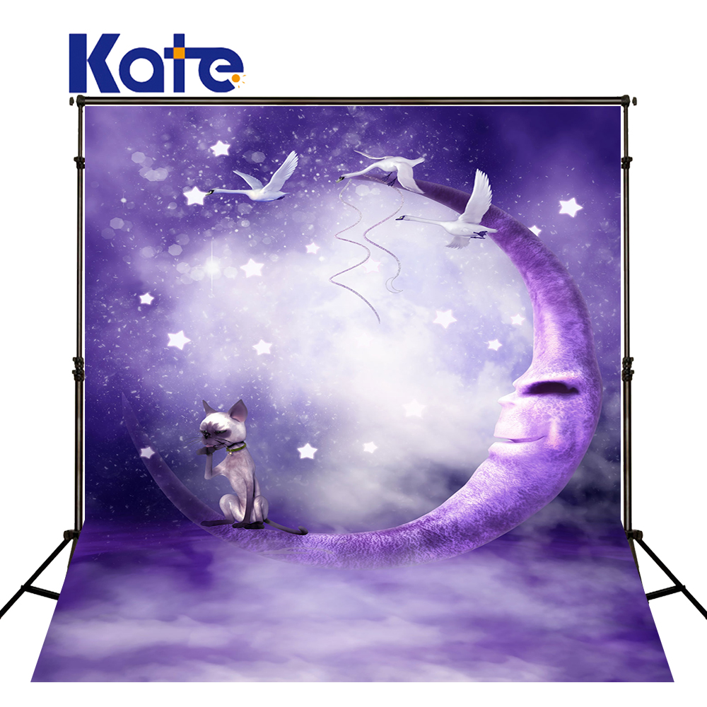 Kate  Digital Printing Photo Studio Backdrop Purple Background Moon Swan Background Fantasy  Scenic Backdrops Yy00551 allenjoy background for photo studio full moon spider black cat pumpkin halloween backdrop newborn original design fantasy props