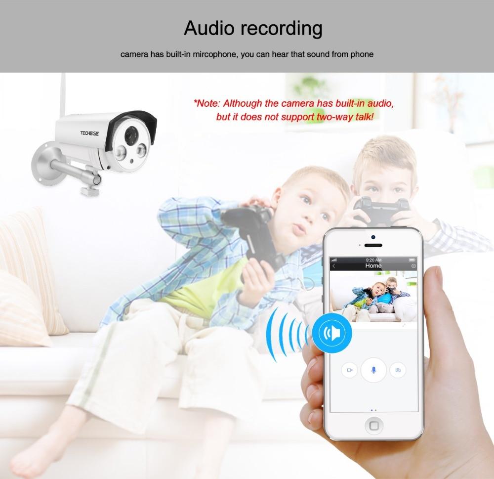 Techege Yoosee IP Camera Audio Record Wifi 1080P 960P 720P