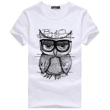 Тис мальчика сова летний майка коротким случайные футболки рубашка печати моды
