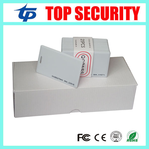 Free shipping 100pcs one box TK4100 EM4100 RFID card 125KHZ RFID card smart card proximity plastic time attendance card non standard die cut plastic combo cards die cut greeting card one big card with 3 mini key tag card
