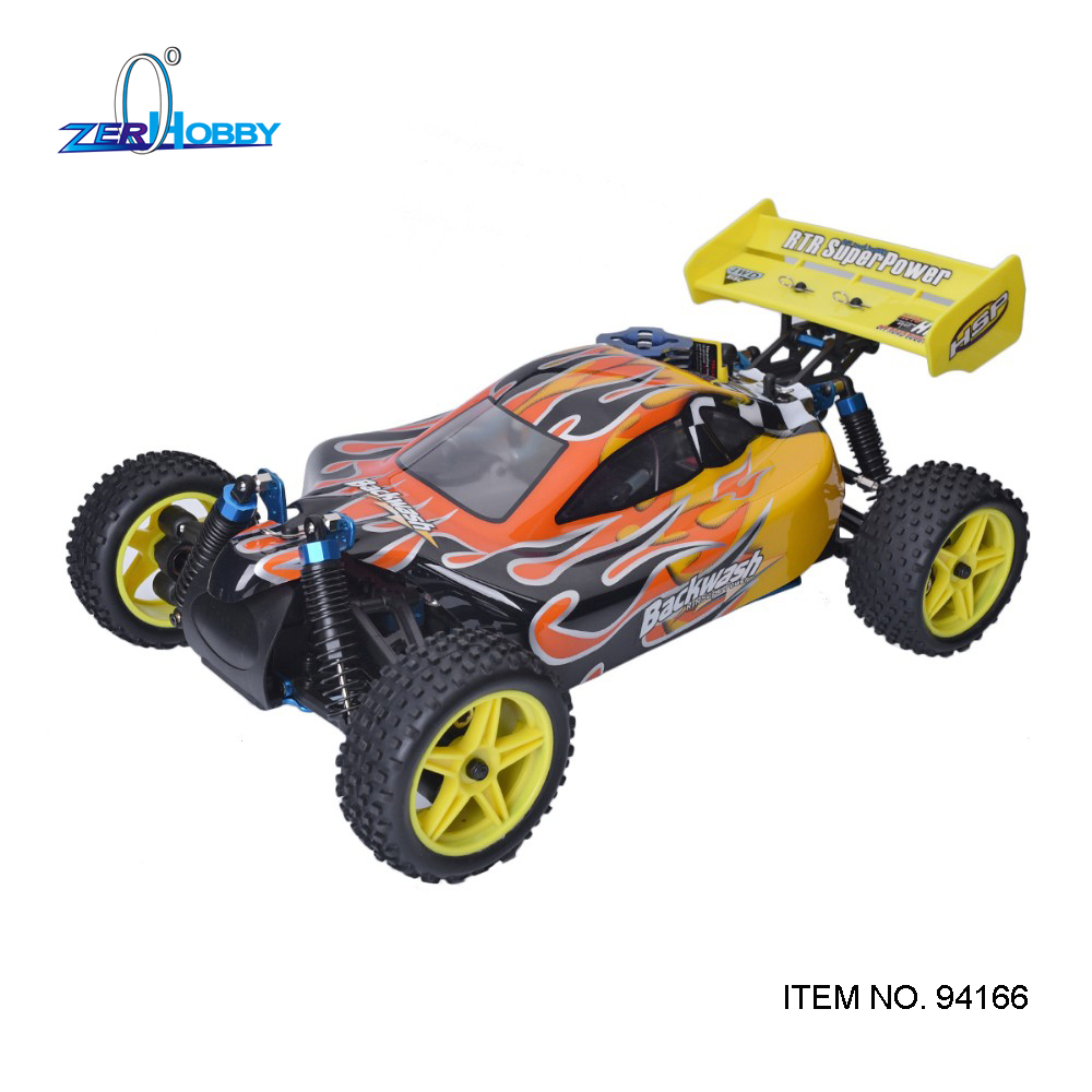 HSP Baja 1/10th Scale Nitro Power Off Road Buggy 4WD RC Hobby Cars 94166 With 18cxp Engine 2.4G Radio Control image