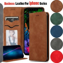 Flip Case For iphone 7 8 Plus 6S Leather PU Wallet Cover XI XIR XIMax Phone Bags Card Book XS Max XR Coque