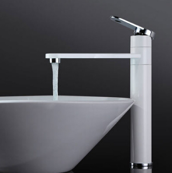 New brass material Chrome and white Finish Bathroom Hot and Cold sink basin Water tap mixer faucet pastoralism and agriculture pennar basin india