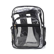 2019 new Unisex Clear PVC Backpack Travel School Bag Zipper Rucksack for College Students lady new embroidery unique nice school bag ethinic travel rucksack shoulder bags women national style college students backpack
