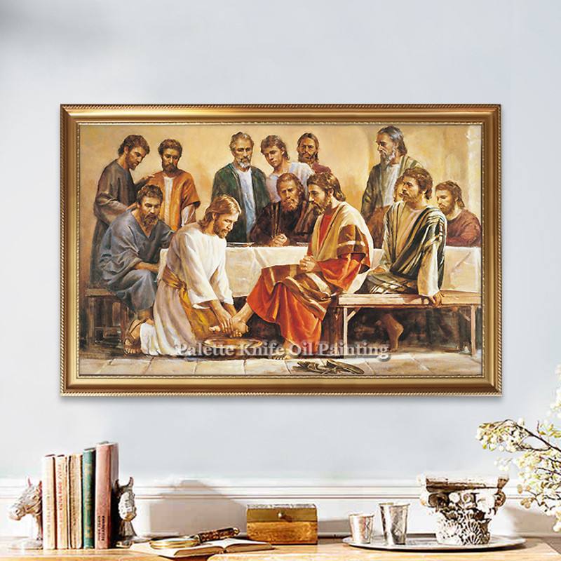 Home Interior Jesus: Poster And Print Of Jesus Christ Jesus On Canvas Wall
