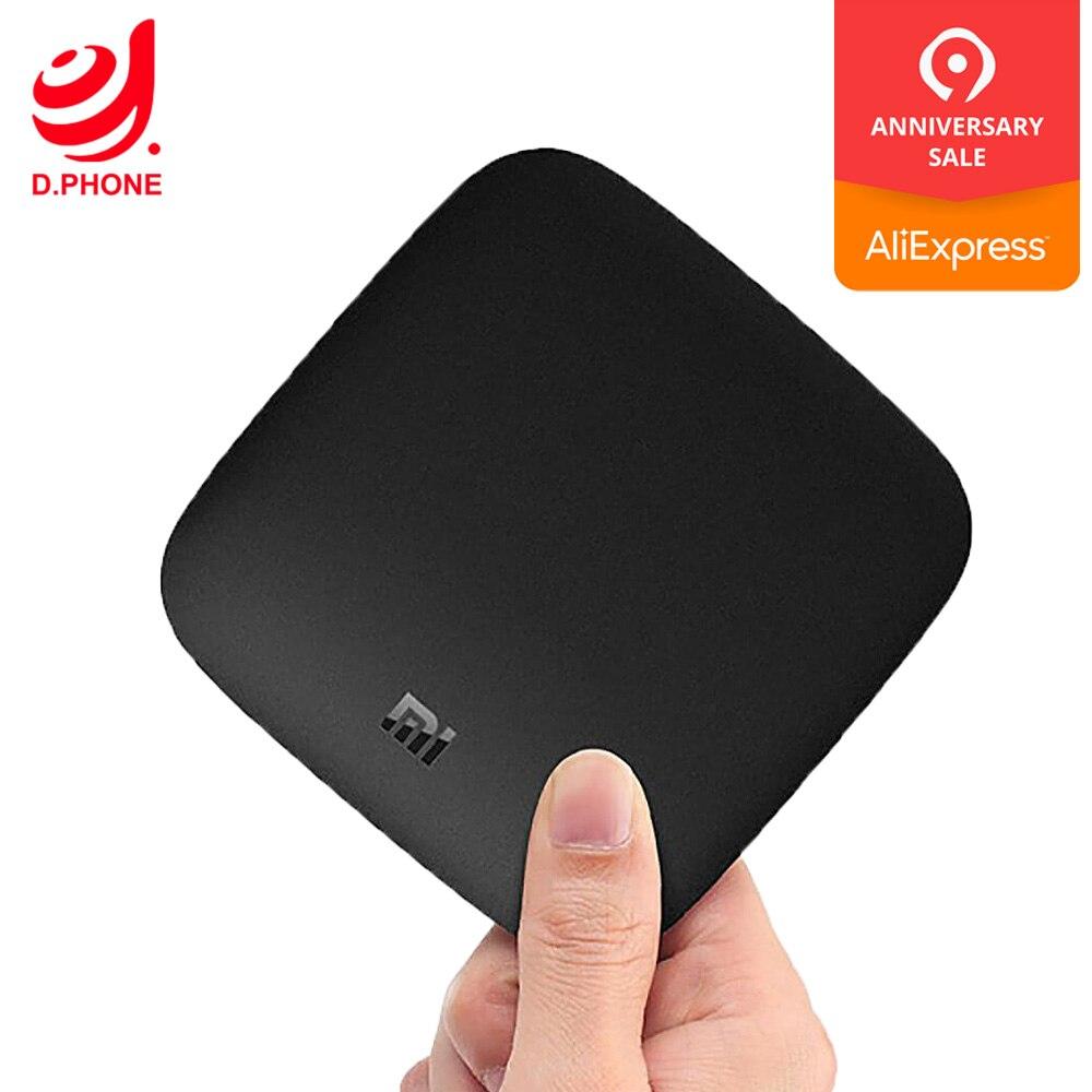Boîtier TV d'origine Xiao mi mi 3 Smart 4 K Ultra HD 2G 8G Android 6.0 film WIFI Google Cast Netflix Red Bull lecteur multimédia décodeur