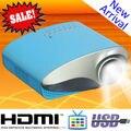 Mini bolsillo llevó el proyector sintonizador de TV USB SD VGA HDMI soporte 1920 x 1080 For casa juegos usados regalo de los cabritos de vídeo Digital Beamer