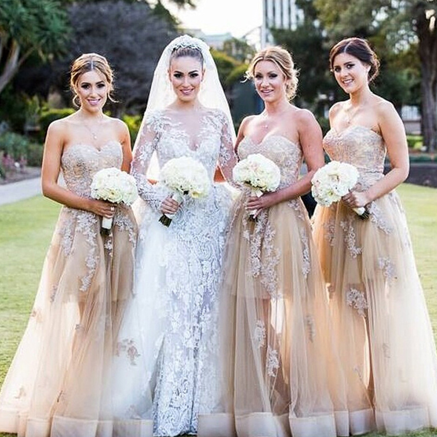 High quality champagne lace bridesmaid dresses buy cheap champagne robe demoiselle dhonneur 2017 lace sexy sweetheart aline champagne bridesmaid dresses long cheap bohemian ombrellifo Gallery