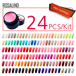 (24PCS/LOT)ROSALIND 5ML Painting Gel Varnish Gel Nail Polish Set For Manicure vernis semi permanent Design Of Nail Art Primer