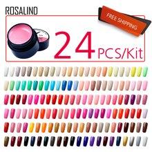 (24 Pz/lotto) rosalind 5 Ml Pittura Gel per Unghie Gel Nail Polish Set per Manicure Vernis Semi Permanente Disegno di Unghie Artistiche Primer, Base Trucco
