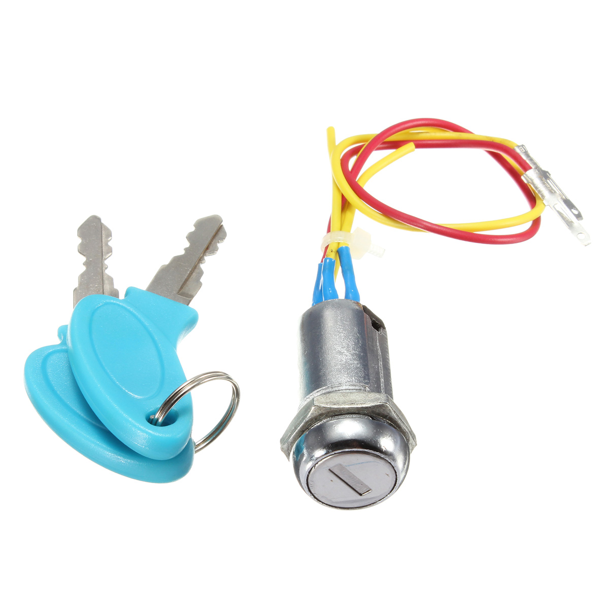 Blue Ignition Switch Lock Electric Mobility Scooter Bike Part Replacement+2