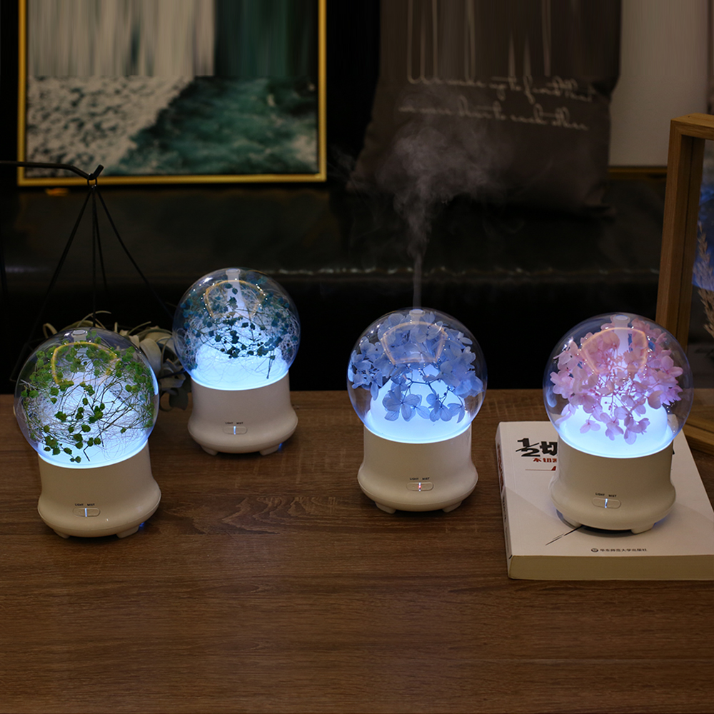 2017 New Crystal Ball with Beautiful Baby's Breath Humidifier Colorful Light Mist Maker Room Decoration Aroma Diffuser 4pcs new for ball uff bes m18mg noc80b s04g