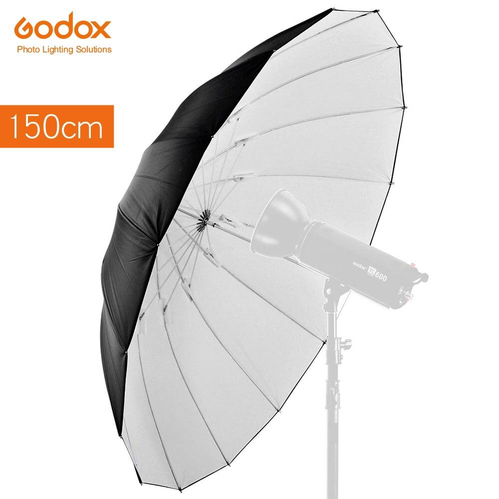 Godox Studio Photogrphy 60 150cm Black White Reflective Lighting Light Umbrella