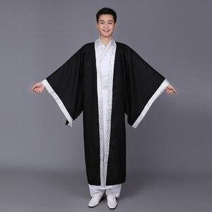 Image 4 - Do chińskiego narodowego kostiumu dynastii Hanfu Qin wiosną i jesienią walczące królestwa oficjalna służba dynastia han odzież sportowa