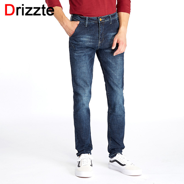 2d030379912 Drizzte Mens Fashion Stretch Denim Color Jeans Lycra Blue Slim Jean Pants  Plus Size 33 34 36 38 40 42 44 46 for Big   Tall Man
