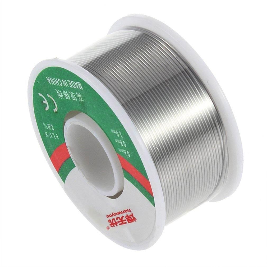 Tin/Lead 0.8mm Diameter Rosin Roll Tin Rosin Core 2% Flux Solder Wire Reel --M25