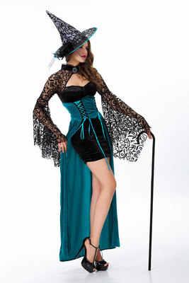 Костюм ведьмы Для женщин Хэллоуин Необычные платья партии Карнавал Сексуальные