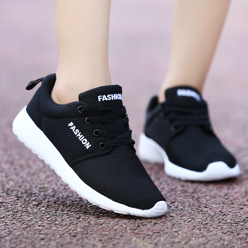 Summer Women Sneaker Fashion Casual Air Mesh Sports Track Shoescomfortable Light Outdoor Light Breathable Zapatillas Mujer Women's Flats