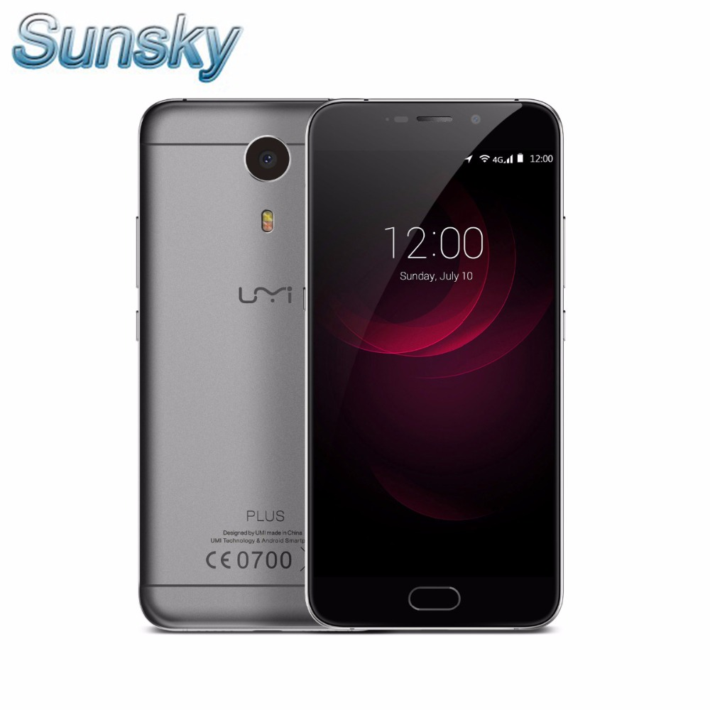 "Original UMI Plus 5.5"" FHD 4G LTE 4000mAh MTK6755 Helio P10 Octa Core Android 6.0 4GB 32GB OTG 13.0MP Fingerprint Mobile Phone"