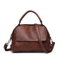 2019 New Fashion Women Hand bag Leather Luxury Shoulder Casual Bags Messenger Female Travel Quality Candy Color Handbag Soft Bag
