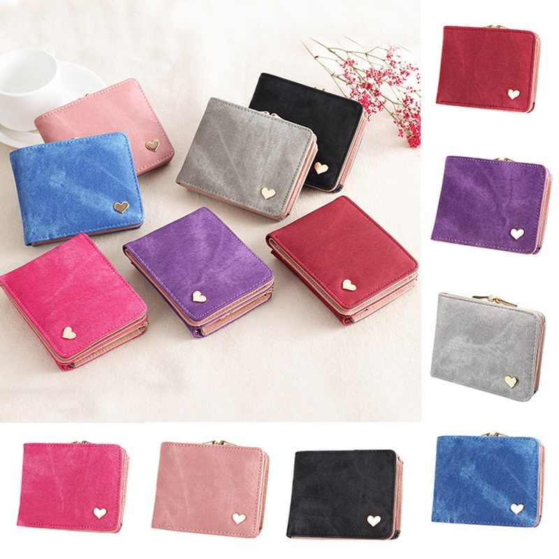 Женский кошелек небольшой Засов портмоне для роскошных portfel сердце леди кошельки  женские Мини кошельки кожаный клатч 08e033e23094f