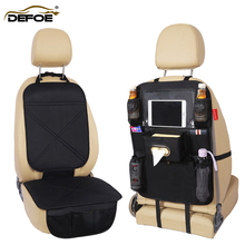 2 Pcs seat cove car storage bag cushion Protection mat back Child safety anti-play freeshipping