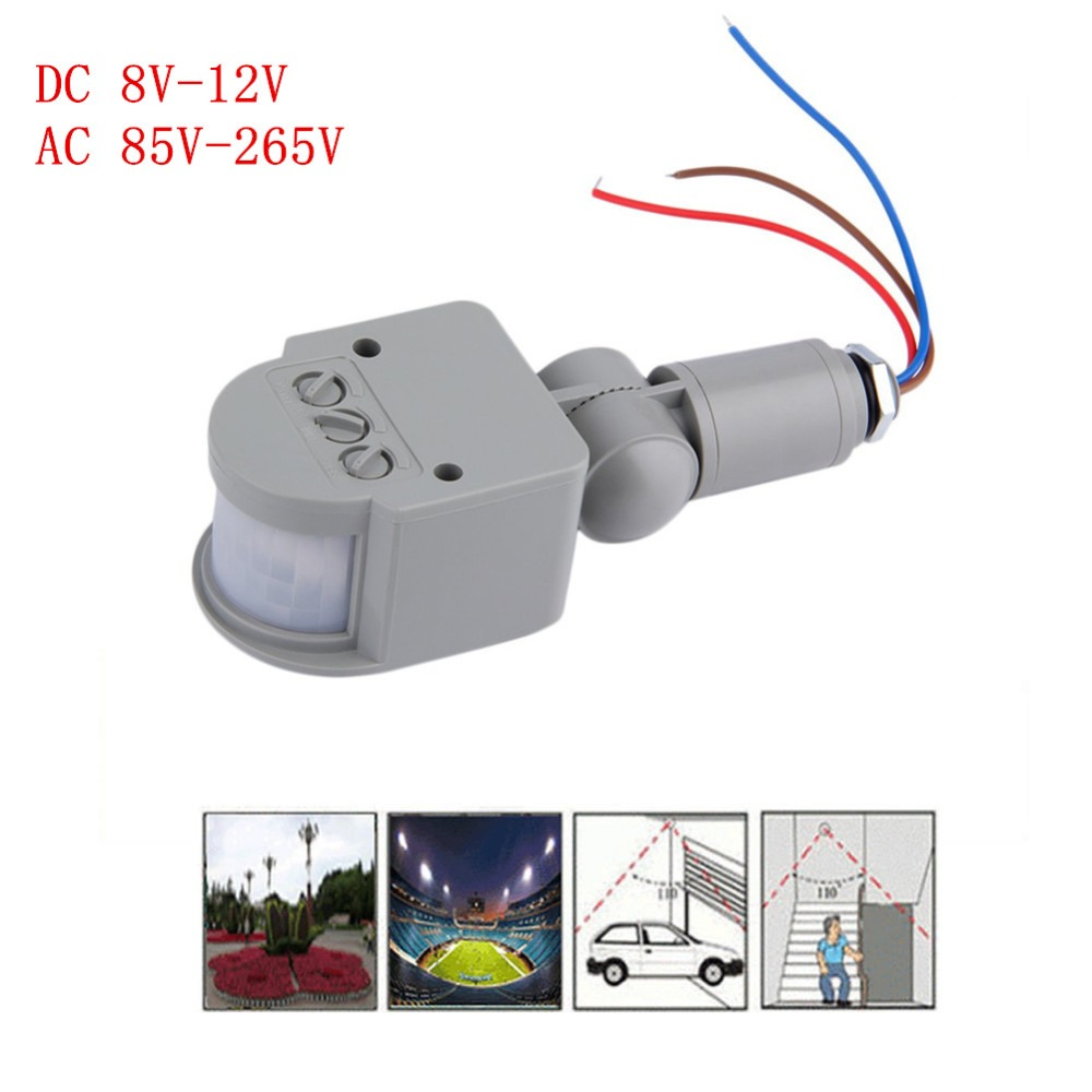 Us 2 03 40 Off Ac 220v Dc 12v Infrared Pir Motion Sensor Switch With Led Light Automatic Outdoor 140 Degrees In