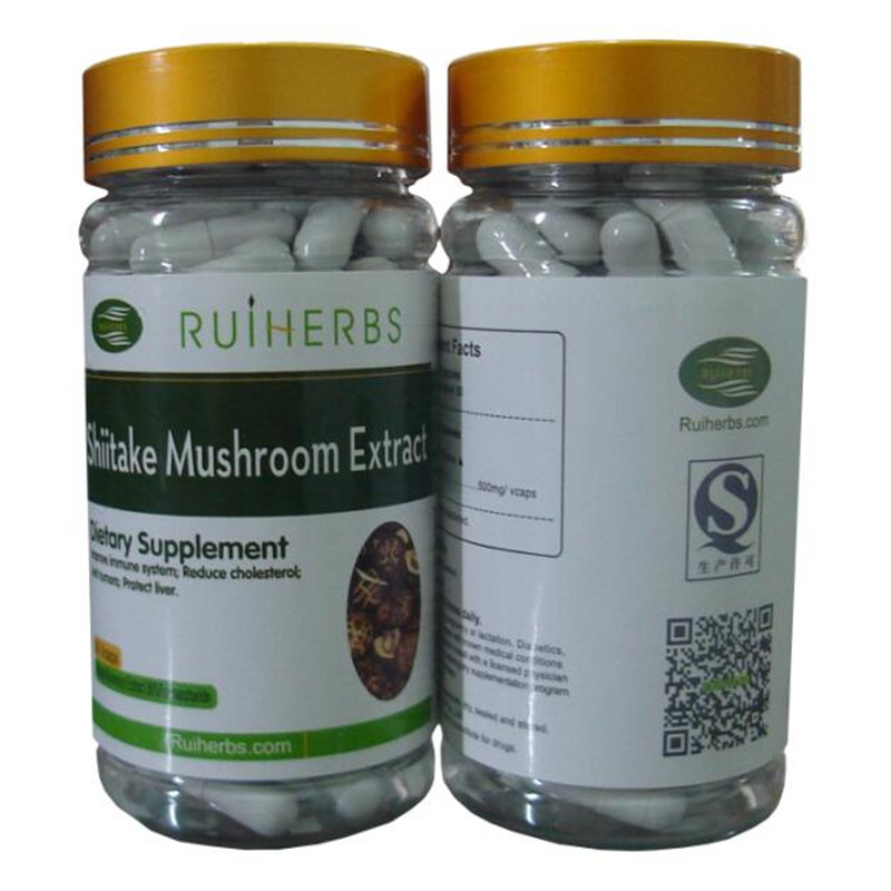 Shiitake Mushroom Extract 30% Polysaccharide Extract 500mg x 270 Caps=3Bottle free shipping free shipping pure nature raspberry extract raspberry ketones powder 500mg x 100caps